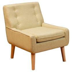Kasey Tufted Fabric Retro Arm Chair