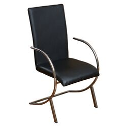 Justin Leather and Chrome Arm Chair