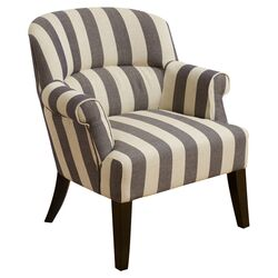 Drake Stripe Fabric Club Chair