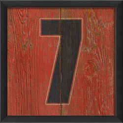 Number Seven Framed Textual Art