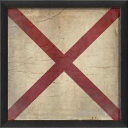 Signal Flag V Framed Graphic Art
