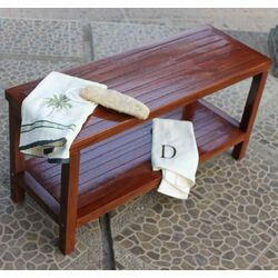Teak Spa Free Standing Bathroom Elegance Storage Shelf
