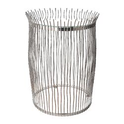 Nickel Dot Wire End Table