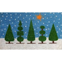 Topiary Christmas Doormat