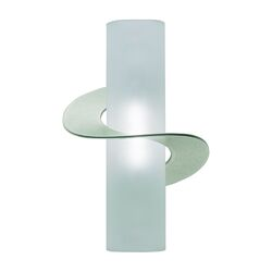 Solune One Light Wall Sconce in Satin Nickel with Single Twist