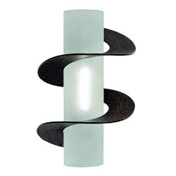 Solune One Light Wall Sconce in Rusty with Double Twist