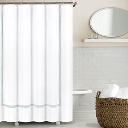 Three Line Hotel Shower Curtain