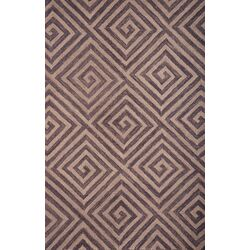 Textures Grey/Natural Geometric Rug