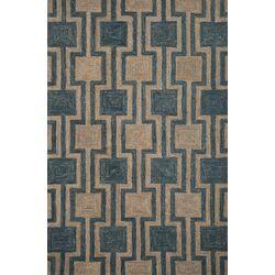 Textures Blue/Natural Geometric Rug