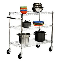 EcoStorage 3 Tier NSF Chrome Cart