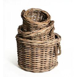 Bali Jumbo Round Roped Basket