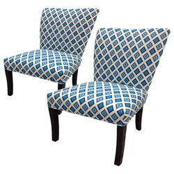 Nile Cotton Wingback Cotton Slipper Chair (Set of 2)