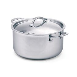 Elite 7.75-qt. Stainless Steel Round Dutch Oven
