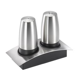 Salt & Pepper Shakers with Caddy