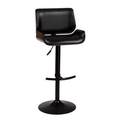 Radcliff Adjustable Height Swivel Bar Stool with Cushion