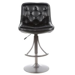 Aspen Adjustable Height Swivel Bar Stool with Cushion