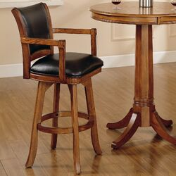 Hillsdale Nassau 30 Quot Swivel Bar Stool With Cushion