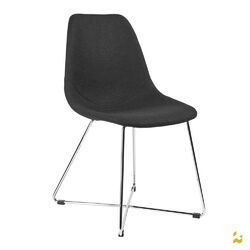 ARTIKA-X Wool Side Chairs with Chrome Base