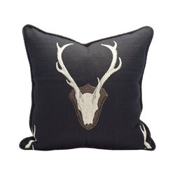 Oh Deer Cotton Throw Pillow