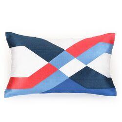 Coastal Ikat Decorative Lumbar Pillow