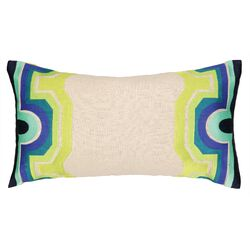 Arcata Embroidered Oblong Pillow