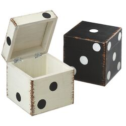 Vintage Dice Storage Box (Set of 2)