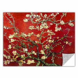 ArtApeelz 'Interpretation in Red Almond Blossom' by Vincent Van Gogh Graphic Art
