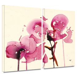 'Orchids I' by Karin Johanneson 2 Piece Gallery-Wrapped Canvas Art Set