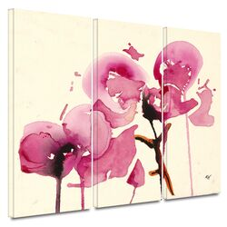 'Orchids I' by Karin Johanneson 3 Piece Gallery-Wrapped Canvas Art Set