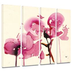 'Orchids I' by Karin Johanneson 4 Piece Gallery-Wrapped Canvas Art Set
