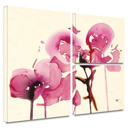 'Orchids I' by Karin Johanneson Flag 3 Piece Gallery-Wrapped Canvas Art Set