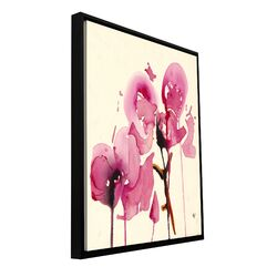 'Orchids I' by Karin Johanneson Floater Framed Gallery-Wrapped Canvas Art