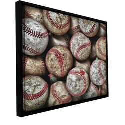 'Baseballs' by David Liam Kyle Floater Framed Gallery-Wrapped Canvas Art