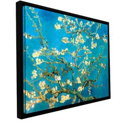 'Almond Blossom' by Vincent Van Gogh Floater Framed Gallery-Wrapped Canvas Art