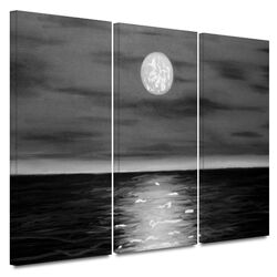 'Moon Rising' by Jim Morana 3 Piece Gallery-Wrapped Canvas Art Set
