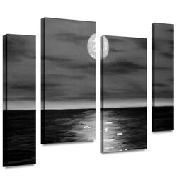 'Moon Rising' by Jim Morana 4 Piece Gallery-Wrapped Canvas Art Set