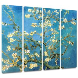 'Almond Blossom' by Vincent Van Gogh 4 Piece Gallery-Wrapped Canvas Art Set