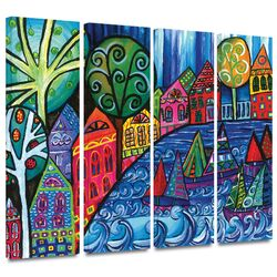 'The Watershed' by Debra Purcell 4 Piece Gallery-Wrapped Canvas Art Set