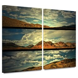 'Saving Skis' by Mark Ross 2 Piece Gallery-Wrapped Canvas Art Set