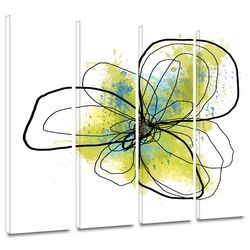 'Citron Petals II' by Jan Weiss 4 Piece Gallery-Wrapped Canvas Art Set