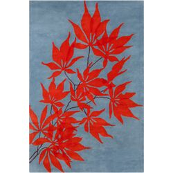 Cinzia Blue/Red Floral Rug