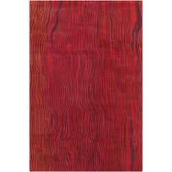 Cinzia Red Abstract Area Rug