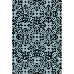 Cinzia Blue / Black Abstract Area Rug
