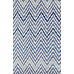 Cinzia Blue/Cream Geometric Rug