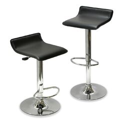 Adjustable Airlift Bar Stool Set of 2