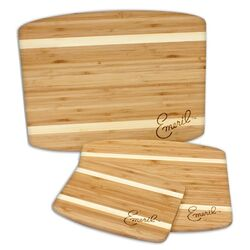 3 Piece Striped Bamboo Cutting Board Set