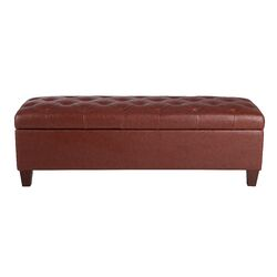 Belmont Leather Storage Ottoman