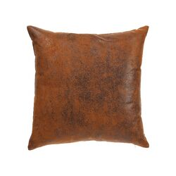 Jazzy Plain Faux Leather Throw Pillow