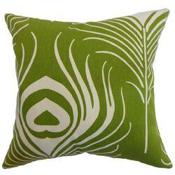 Lamassa Peacock Cotton Pillow