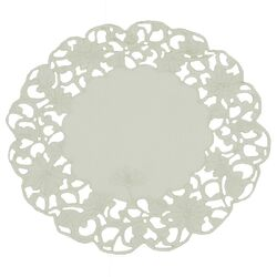 Daisy Lace Embroidered Cutwork Round Doily